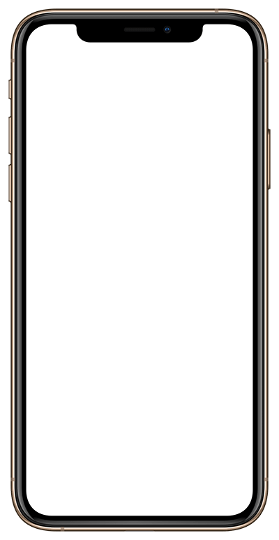 Apple iPhone Xs Mockup Template Gold