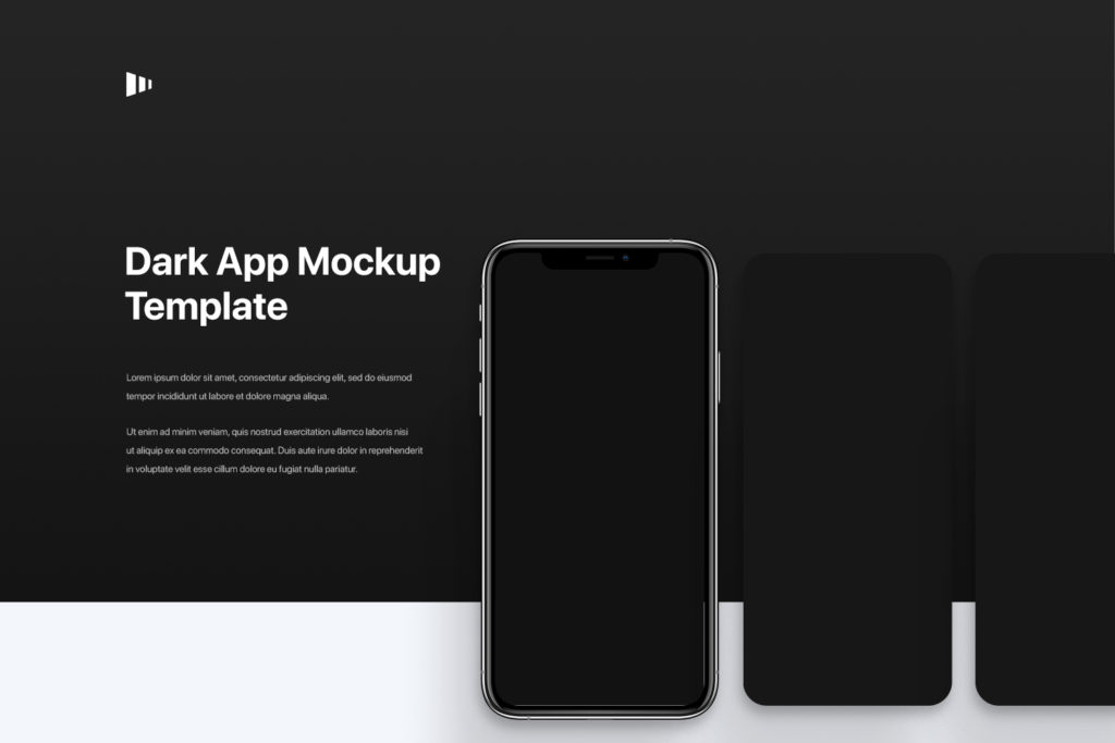 iOS Dark App Mockup Template