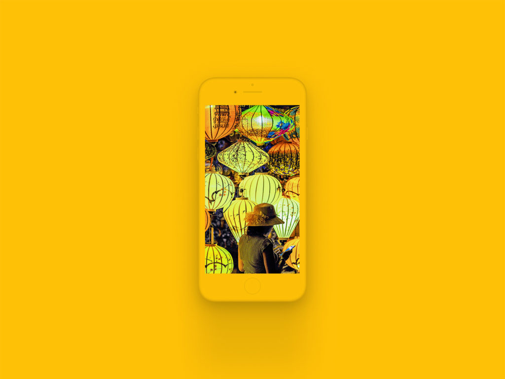 iPhone 8 Clay Mockup Amber