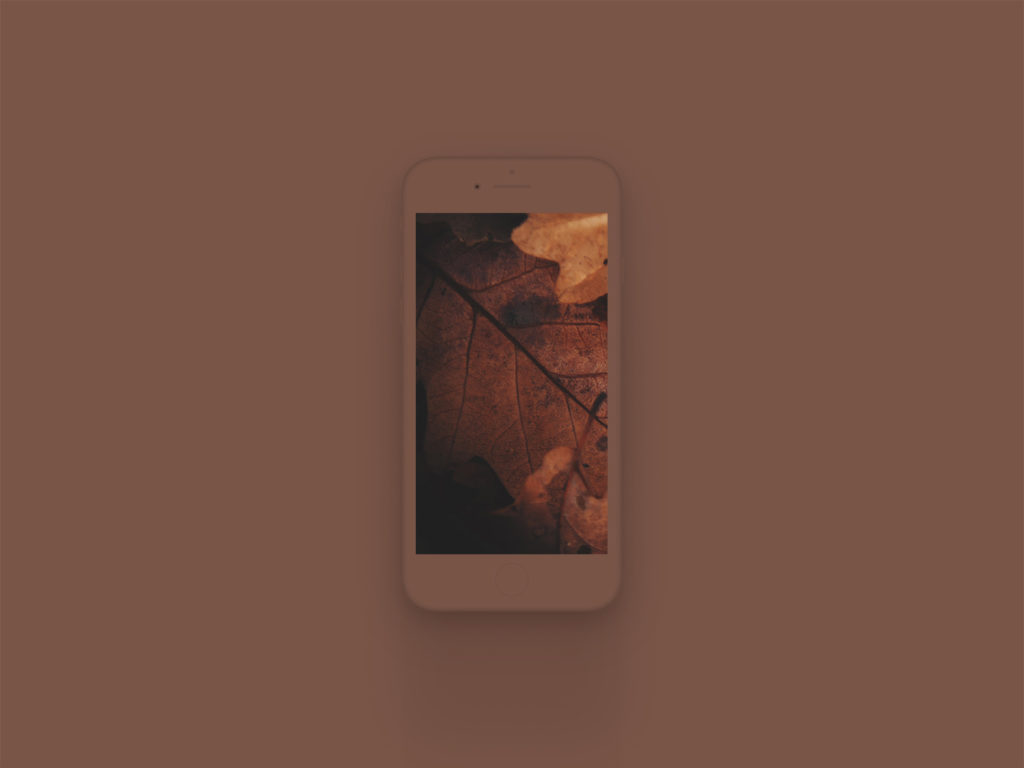 iPhone 8 Clay Mockup Brown