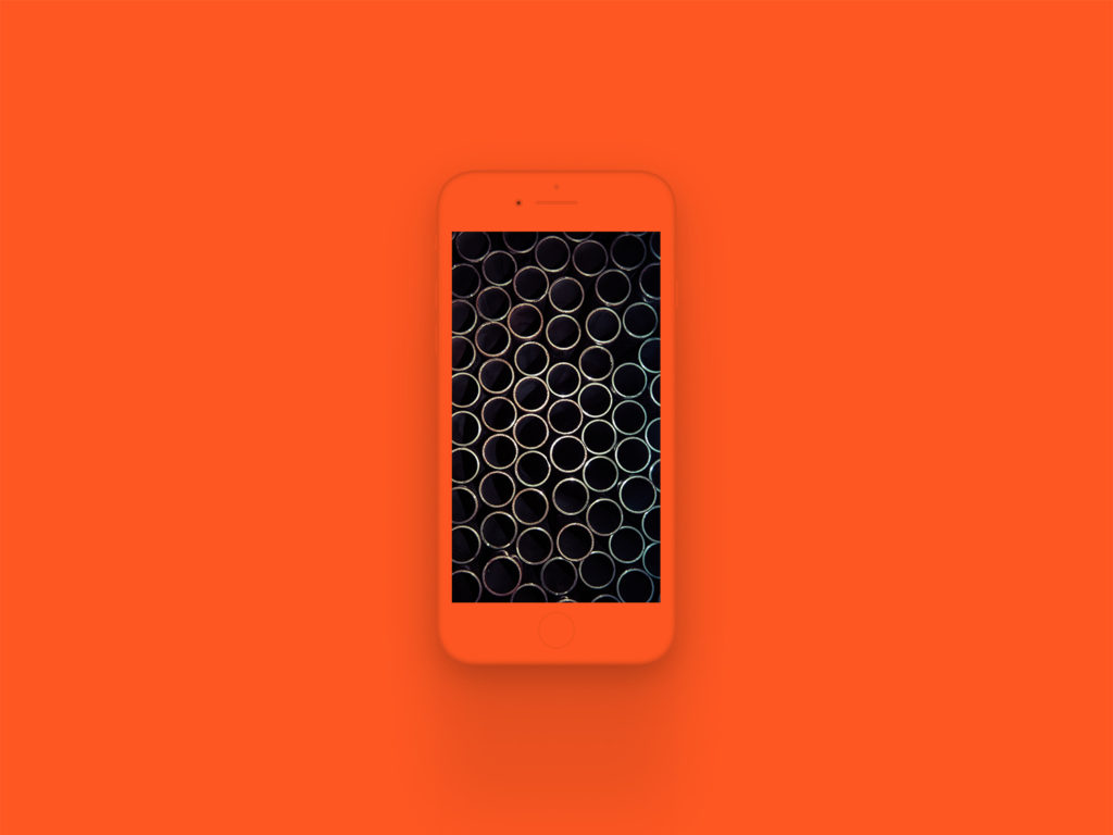 iPhone 8 Clay Mockup Deep Orange