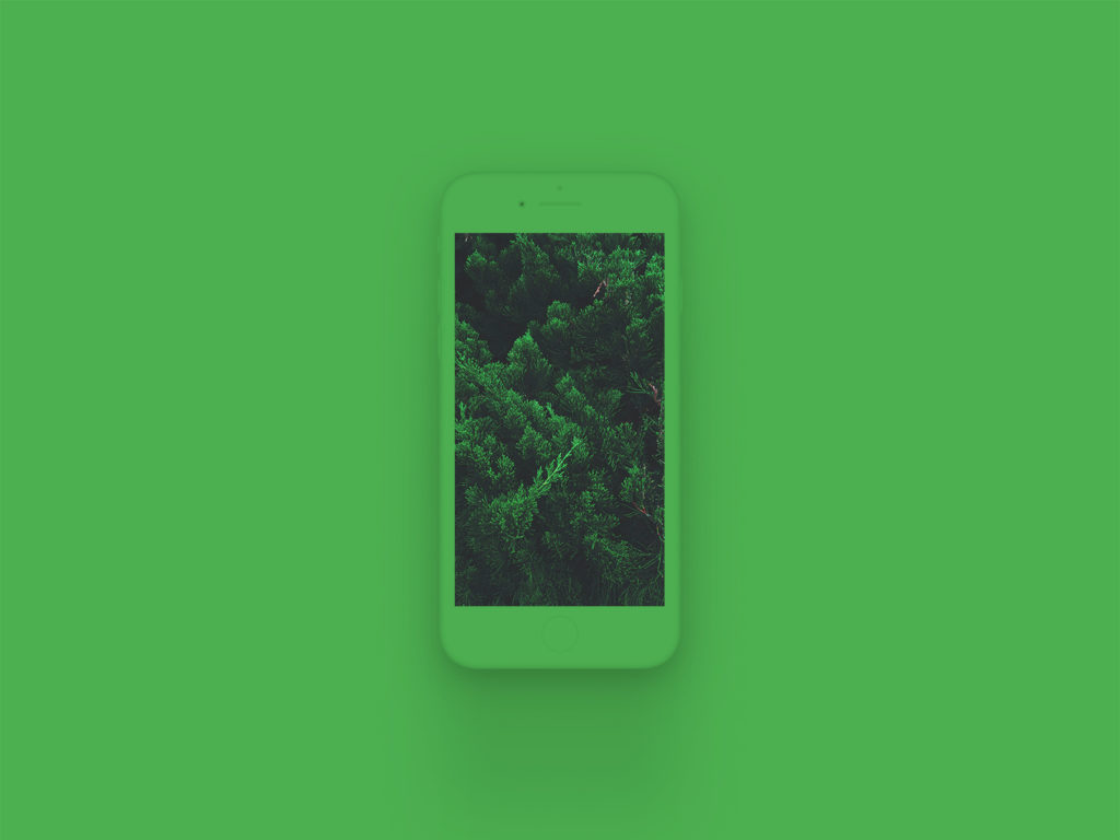 iPhone 8 Clay Mockup Green