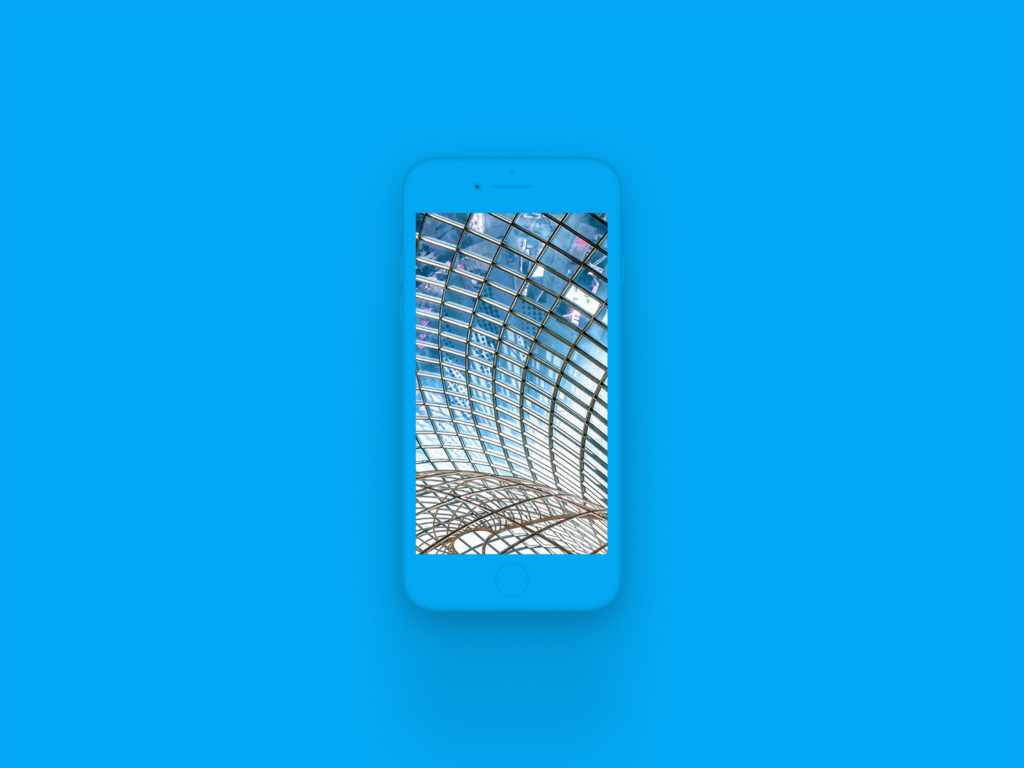 iPhone 8 Clay Mockup Light Blue