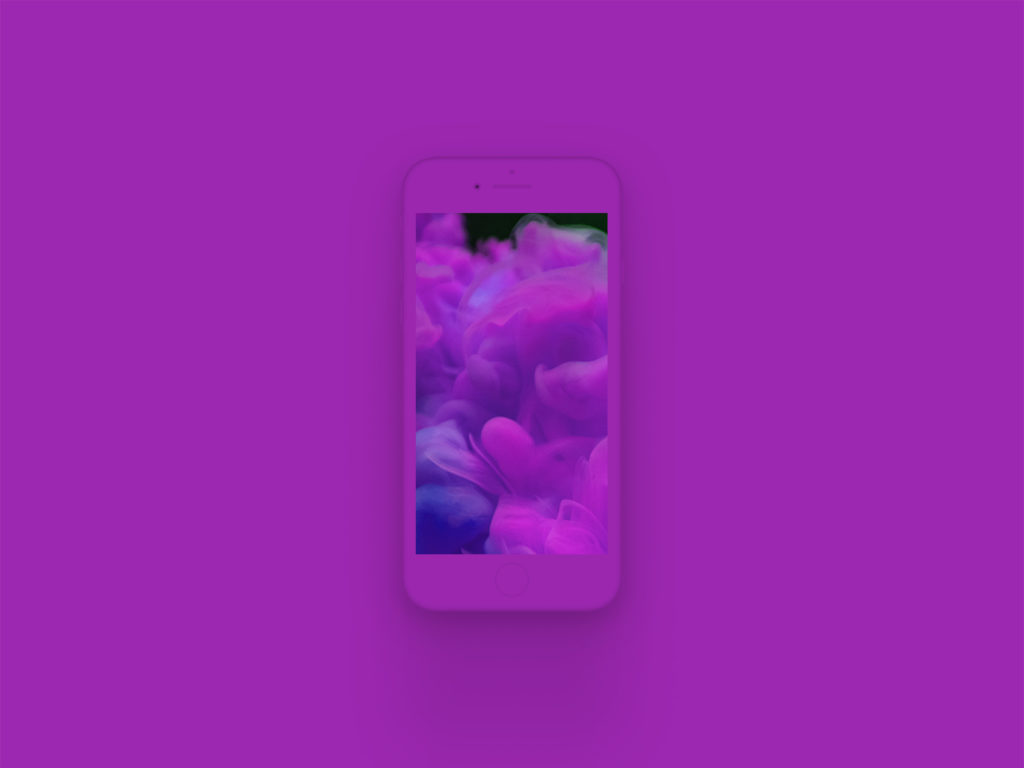 iPhone 8 Clay Mockup Purple