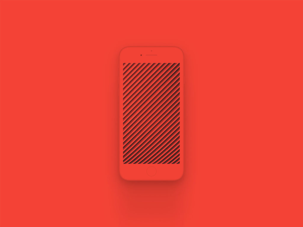 iPhone 8 Clay Mockup Red