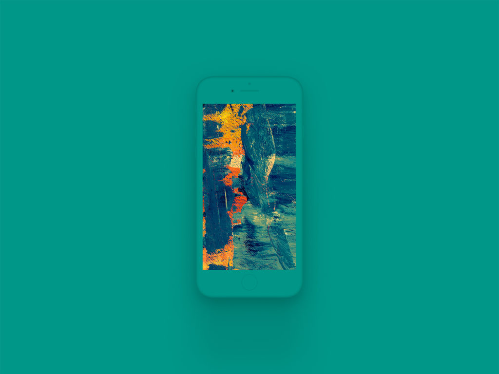 iPhone 8 Clay Mockup Teal