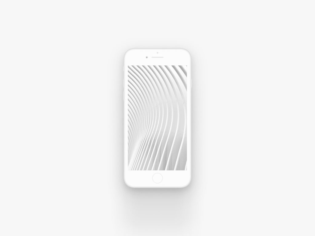 iPhone 8 Clay Mockup White