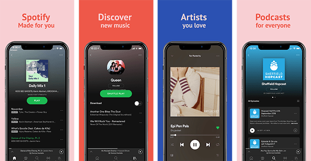iOS Spotify iPhone Template